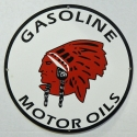 Indian Gas & Motor Oil Sign
